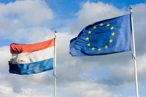 Dutch and EU flags